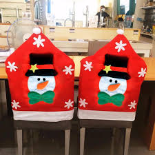snowman chair covers creative christmas snowman chair cover 70 49cm dining room