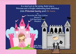 graphic design birthday invitations princess knight birthday invitation printable or printed