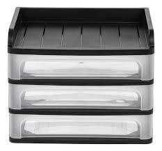 Plastic Desk Organizer Iris 3 Drawer Desktop Organizer Reviews Wayfair
