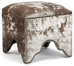 ottoman with 4 stools footstools and ottomans contemporary modern mink velvet nail head