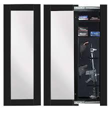 between the studs gun cabinet willa hide hidden reflections full length concealment mirror wall