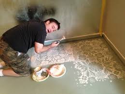 Paint Concrete Floor Ideas by Concrete Floor Painting Techniques Defendbigbird Com
