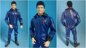 leather jumpsuit loucoporbonecos gi joe joe falcon blue leather jumpsuit