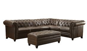 Tufted Sectionals Sofas by Button Tufted Sectional Sofa With Armless Chair By Coaster Wolf