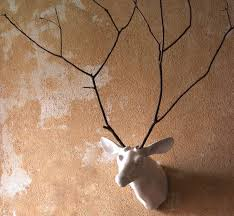 deer head kalalou white ceramic mounted deer head horse of a different color