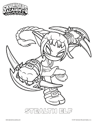 free skylanders stealth elf coloring page mama likes this