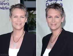 the short wash and wear hairstyle of jamie lee curtis for women