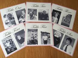 table numbers with pictures photo wedding table numbers personalised baby photos wedding table