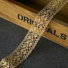 gold lace ribbon aliexpress buy 20 yard 2 5cm 0 98 wide gold lace trim