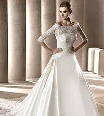 fashion a line bateau wedding dresses with lace jacket chapel