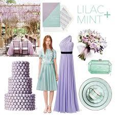 lilac color a pastel wedding color palette lilac and mint brides