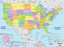 map of united states with states and cities labeled map usa with cities major tourist attractions maps