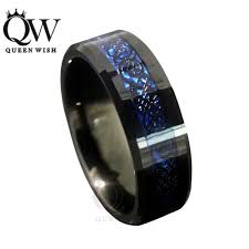 mens blue wedding bands 8mm blue black silvering celtic tungsten carbide engagement