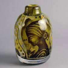 Orrefors Vase Glass Ariel Vase By Edvin Ohrstrom For Orrefors N6398 U2013 Freeforms