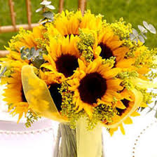 Sunflower Wedding Centerpieces by Gorgeous Sunflower Wedding Centerpieces Global Rose