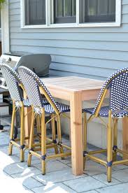 Free Plans For Outdoor Furniture by Diy Outdoor Bar Table Free Plans The Chronicles Of Home