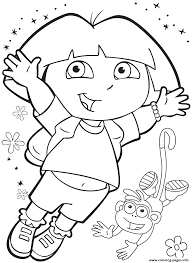 dora kids happy boots36f9 coloring pages printable