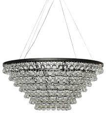 Glass Crystal Chandelier Drops Celeste Tapered Glass Drop Crystal Chandelier Black