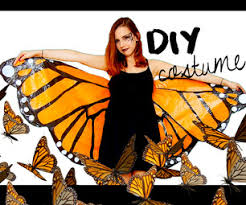 diy halloween costume monarch butterfly under 3 with garbage