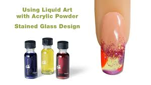 stained glass design using young nails liquid art u0026 acrylic