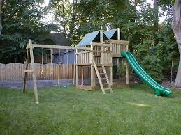 Build A Backyard Fort Gemini Diy Wood Fort Swingset Plans Jack U0027s Backyard