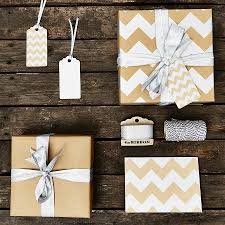silver chevron brown wrapping paper by