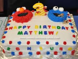 birthday cakes elmo design sweets photos blog