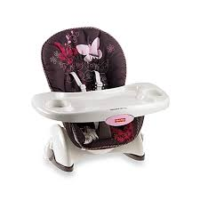 fisher price space saver high chair in mocha butterfly buybuy baby