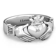 mens claddagh ring claddagh rings personalized by you jewlr