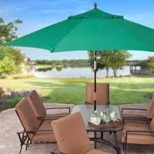 Big Patio Umbrellas by Push Button Tilt 11 Ft Patio Umbrella With Brick Red Orange Canopy