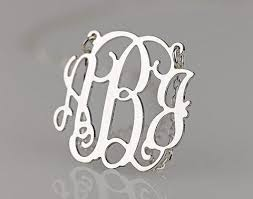 Circle Monogram Necklace Monogram Jewelry U2013 Top2case