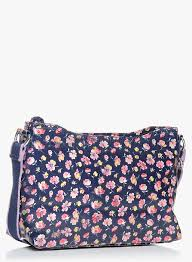 buy cath kidston mallory ditsy navy blue zipped crossbody bag for