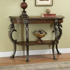 Painted Console Table Powell 416 225 Masterpiece Floral Hand Painted Demilune Console