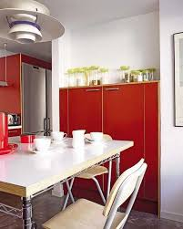 Latest Kitchen Designs 2013 2 Modern Kitchen Designs In White And Red Colors Creating Retro