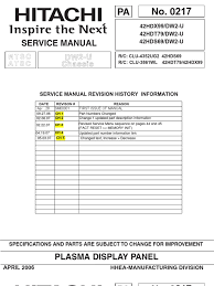hitachi 42hdt79 service manual soldering printed circuit board