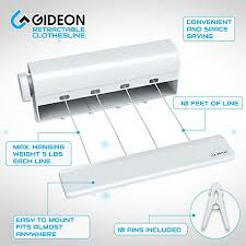 Clothes Line Dryer Indoor Amazon Com Gideon Indoor 4 Line Retractable Clothesline U2013 Clothes