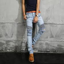 2017 2016 luxury brand balmain jeans man motorcycle biker jeans