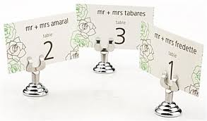 silver place card holders cl style silver display