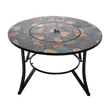 36 Patio Table Aosom Outsunny 36 U201d Round Outdoor Backyard Patio Firepit Table