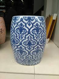 blue porcelain stool jindezhen bathroom dressing ceramic garden