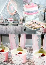 princess baby shower decorations kara s party ideas pink gray princess girl themed baby shower party