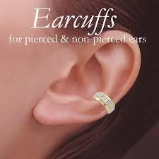 gold ear cuff 18k gold silver cubic zirconia accent earcuff earring