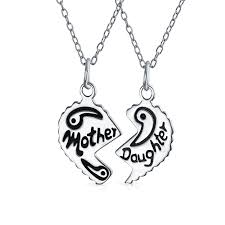 grandmother and granddaughter necklaces 925 silver grandmother granddaughter split heart necklace set 16in