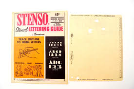 vintage stenso stencil lettering guide modern gothic 1 4
