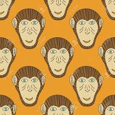 new year wrapping paper monkey seamless vector stylized background for textiles