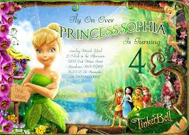 inspiring tinkerbell invitation cards birthdays 59 sample