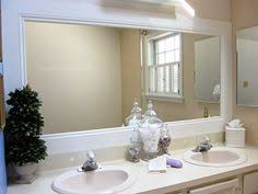Framed Mirrors For Bathroom Framing Mirror Using Crown Molding And Spray Paint So Much