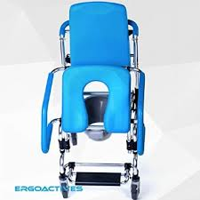 Commode Chair Over Toilet Ergoactive Mobile Commode Assist Chair Rolling Shower Chair