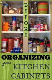 Kitchen Cabinet Organize Organized Kitchen Cabinet Spices Cupboard Organizations And
