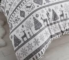 Double Christmas Duvet Noel Duvet Quilt Cover Reindeer Christmas Xmas Tree Bedding Bed